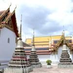 Fotos de Bangkok, Wat Pho estupas y edificios
