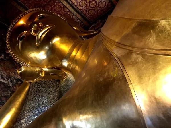 Fotos de Bangkok, cuerpo Buda Reclinado