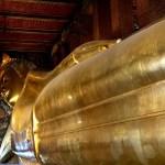 Fotos de Bangkok, piernas Buda Reclinado