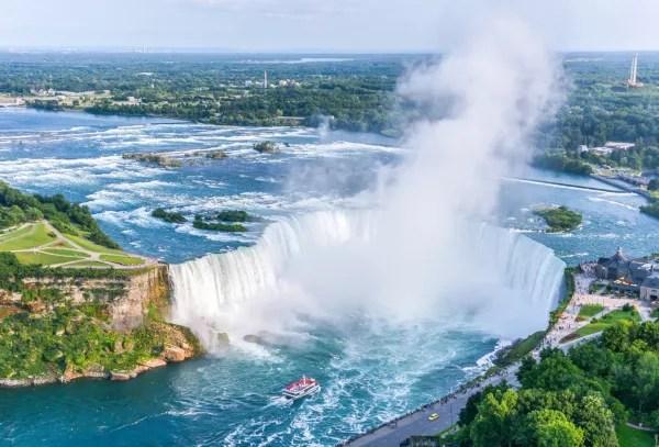 Fotos de Canada, Cataratas del Niagara vista aerea