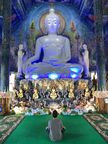 Fotos de Chiang Rai en Tailandia, Pau en el Templo Azul