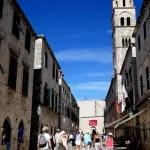 Fotos de Dubrovnik en Croacia, gente calle Stradun