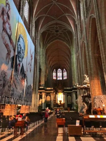 Fotos de Gante en Bélgica, interior de la Catedral de San Bavon