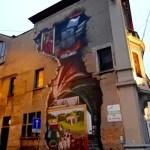 Fotos de Gante en Bélgica, street art Adoración del Cordero Místico