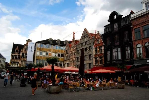 Fotos de Gante en Flandes, terrazas