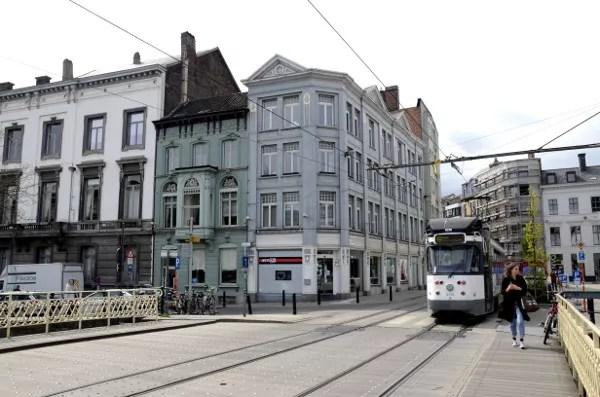 Fotos de Gante en Flandes, tranvia