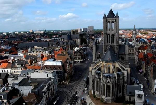 Fotos de Gante en Flandes, vistas desde el Belfort