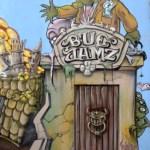 Fotos de Gante, ruta street art Bue the warrior puerta