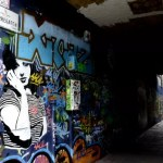 Fotos de Gante, ruta street art callejon graffiti