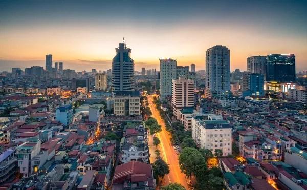 Fotos de Hanoi en Vietnam, vista panoramica