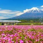 Fotos de Japon, Monte Fuji y shinkansen o tren bala