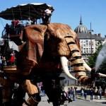 Fotos de Nantes en Francia, Grand Élephant chorro