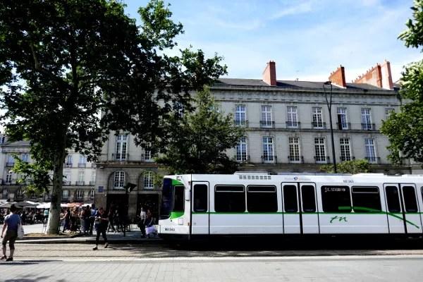 Fotos de Nantes en Francia, tranvia