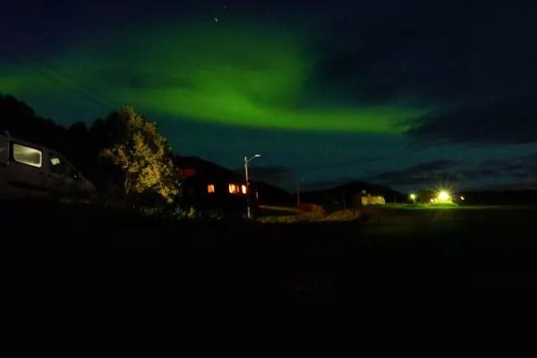 Fotos de Noruega Artica, aurora boreal en Elgsnes Gard