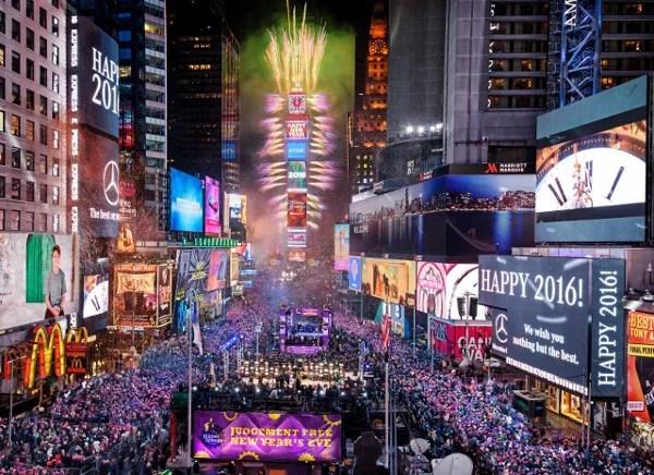 Fotos de Nueva York, cuena atrás en Nochevieja