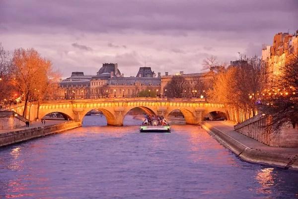 Fotos de Paris, Crucero en barco por el rio Sena