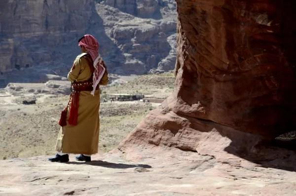 Fotos de Petra en Jordania, miliar jordano