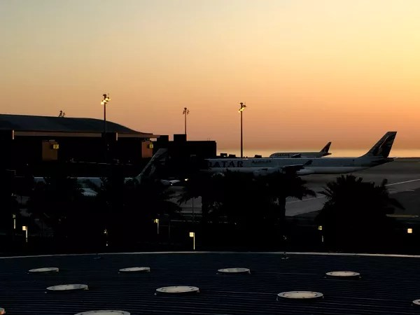Fotos de Qatar Airways, amanecer en Doha