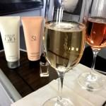 Fotos de Qatar Airways, champagne de bienvenida