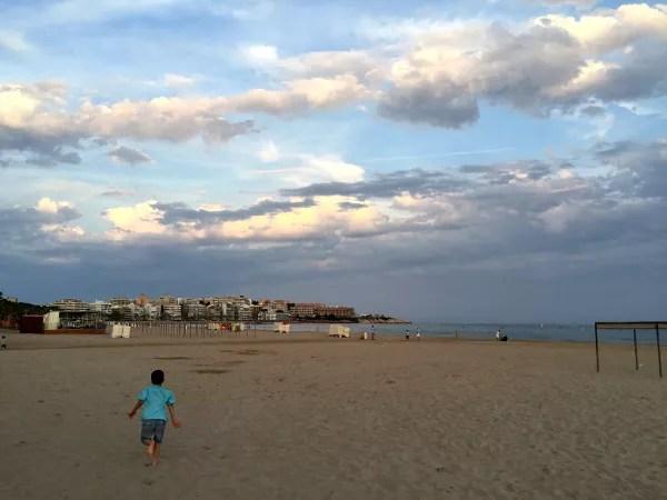 Fotos de Salou, Teo en la platja de LLevant