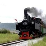 Fotos de Salzburgo en Austria, tren de vapor en Mauterndorf