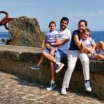 Fotos de San Sebastián, Pau, Vero, Teo y Oriol en el Peine del Viento