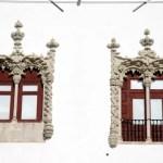 Fotos de Sintra en Portugal, ventanales del Palacio Nacional