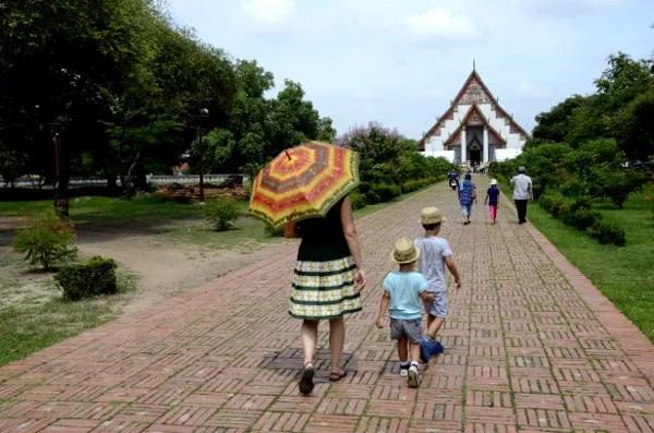 Fotos de Tailandia, Vero, Oriol y Teo en Ayutthaya
