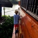 Fotos de Tailandia - crucero desde Ayutthaya, Teo bajando