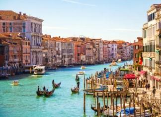 Fotos de Venecia, Gran Canal y gondoleros