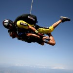 Fotos de saltos en paracaidas en Empuriabrava, caida libre lateral