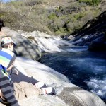 Fotos del Valle del Jerte en Caceres. Vero, Teo y Oriol en Los Pilones