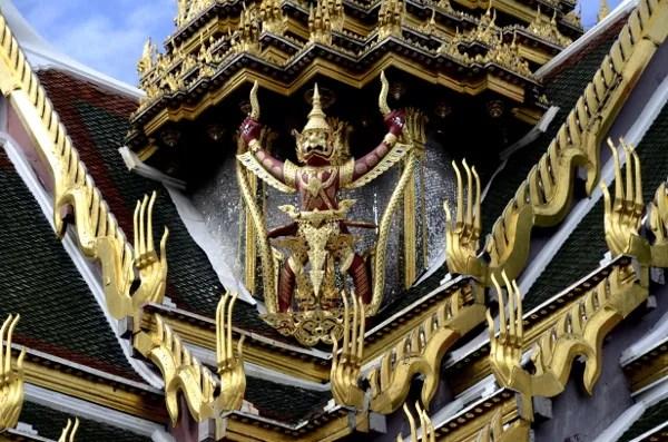 Fotos del Wat Phra Kaew y el Gran Palacio de Bangkok, escultura