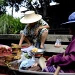 Fotos del mercado flotante de Damnoen Saduak, fruteras