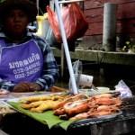 Fotos del mercado flotante de Damnoen Saduak, gambas