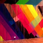 Fotos del museo MIMA de Bruselas, pared de Maya Hayuk