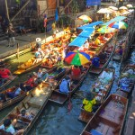 Fotos del viaje a Tailandia con niños, Damnoen Saduak