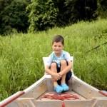 Fotos del viaje a Tailandia con niños, Teo barca Khao Sok