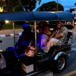 Fotos del viaje a Tailandia con niños, selfie Vero, Teo, Oriol y Pau tuk tuk Chiang Mai