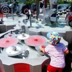 Fotos de Futuroscope en Francia, Teo jugando