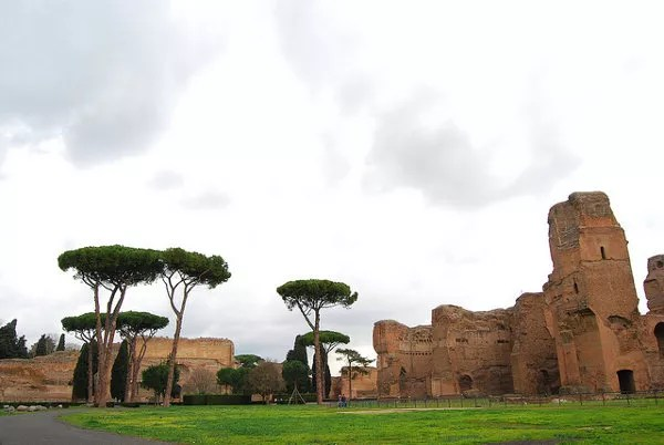 Jardines de las termas de Caracalla