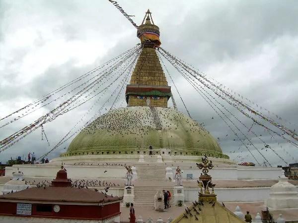 La estupa de Bodnath en Katmandú