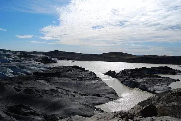 La lengua glaciar Svínafellsjökull