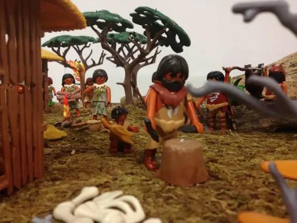 La prehistoria en la Exposición de Playmobil en el Castillo de Santa Bárbara de Alicante