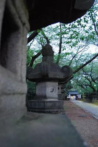 Linternas en el parque Ueno de Tokio
