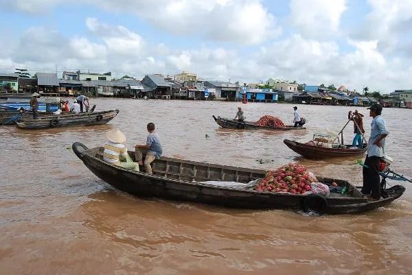 Los mercados flotantes de Can Tho en Vietnam