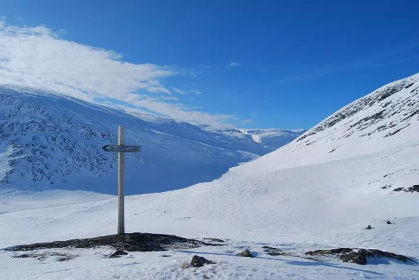 Lugar de meditación en el paso Tjäktja en Laponia Sueca