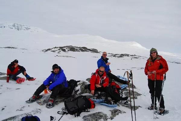 Momento pícnic en medio de Laponia