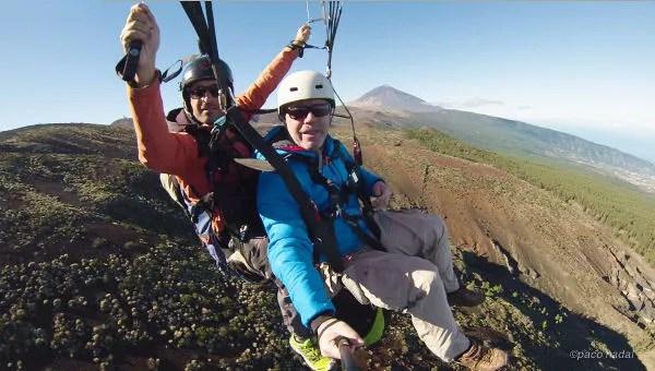 Parapente en el Teide