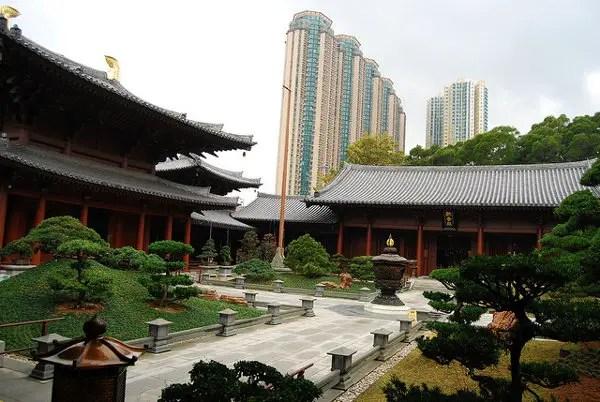Patio principal del Chi Lin Nunnery